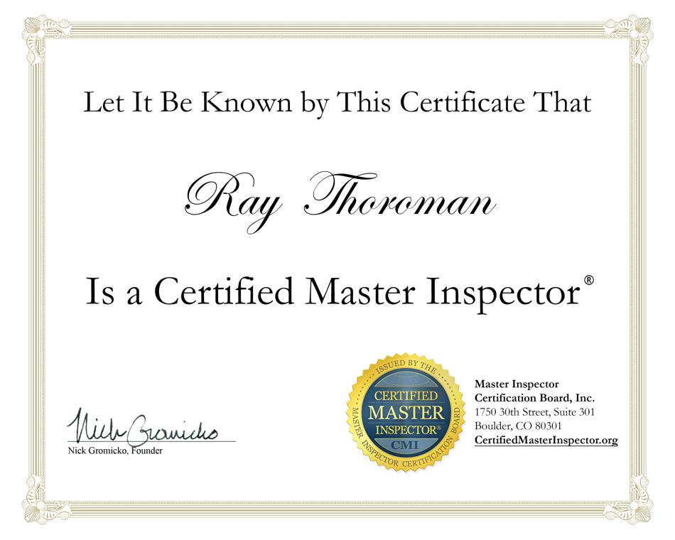 Certificated Master Inspector